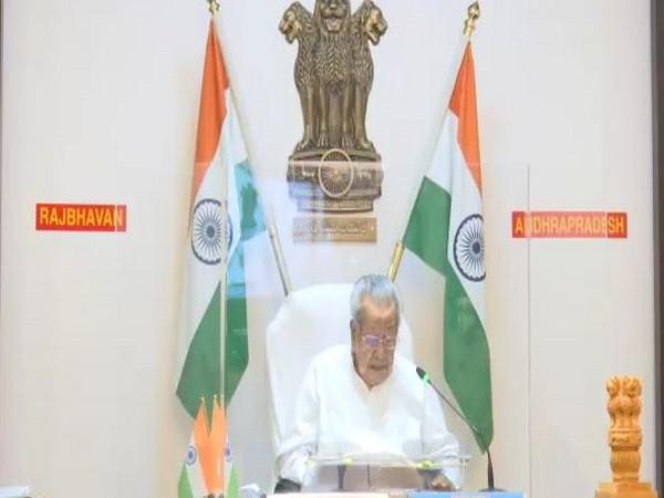 Andhra Pradesh Governor Biswabhushan Harichandan. [Photo/ANI]