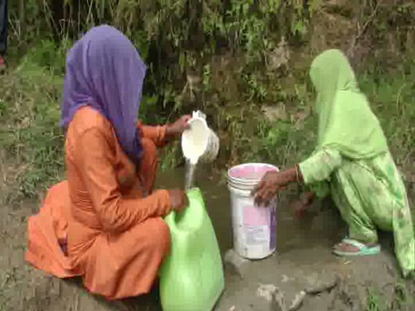 Villagers are forced to drink contaminated water in Sambal District