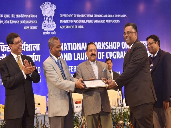 The award being handed over by MoS (PMO) Jitendra Singh in New Delhi on Wednesday.