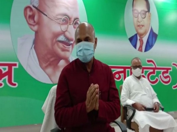 National president of Janata Dal-United (JDU) RCP Singh in Patna (Photo/ANI)