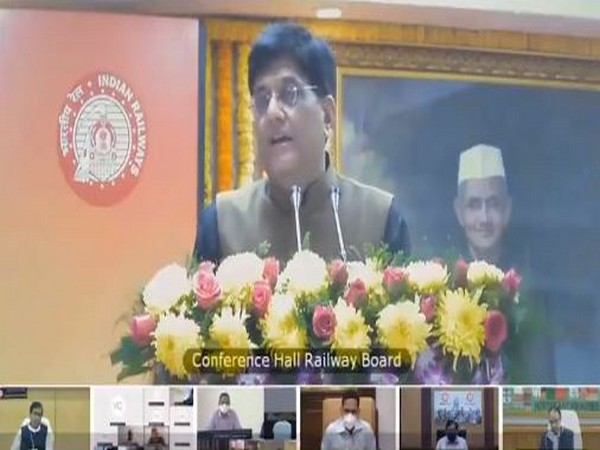 Minister of Railways Piyush Goyal on Thursday appreciated 'Rail Pariwar' in ensuring victories and fighting back against the challenges posed by corona. Photo/ANI