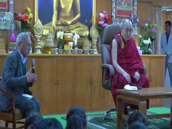 Dalai Lama addressed the students of the Government Degree College of Dharamshala (Photo/ANI)