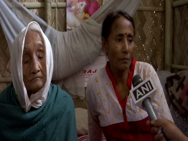 Lakhi Pal with her daughter Madhu Pal in her home in Assam's Charaidev. Photo/ANI