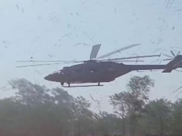 An ALH Dhruv helicopter of the Indian Air Force carried out a precautionary landing in Saharanpur (Photo/ANI)