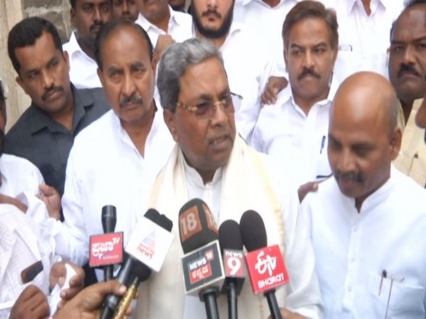 Congress leader Siddaramaiah while speaking to the reporters in Kalaburagi (Photo/ANI)