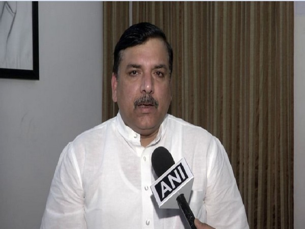 AAP leader Sanjay Singh speaking to ANI on Saturday in New Delhi. Photo/ANI