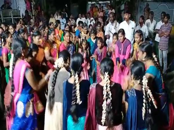 Bathukamma celebrations in Krishna district (Photo/ANI)