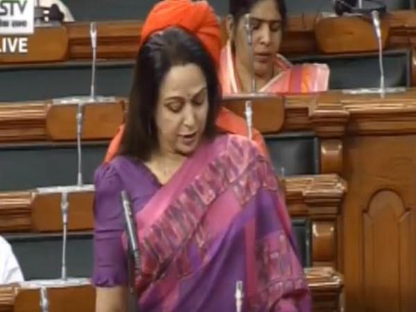 BJP Lok Sabha MP Hema Malini in lower house of the Parliament on Tuesday