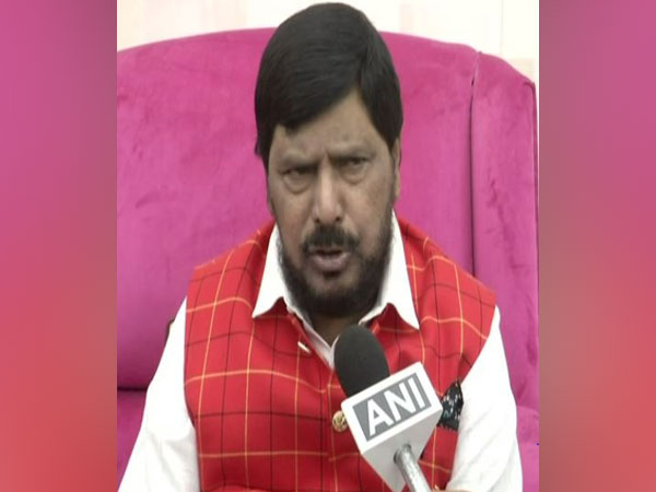 Union Minister Ramdas Athawale speaking to ANI in New Delhi on Friday. Photo/ANI