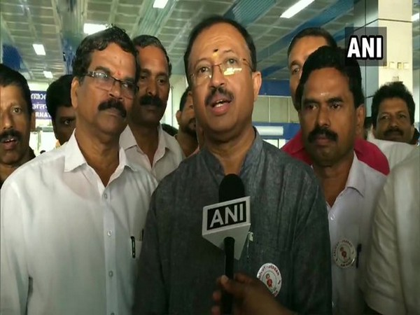 BJP leader and Minister of State for External Affairs V Muraleedharan speaking to reporters on Monday. Photo/ANI