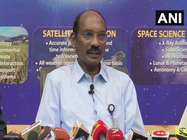 ISRO chairman Dr K Sivan while speaking to the reporters in Bengaluru on Wednesday (Photo/ANI)