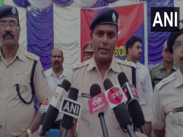 B Gangadhar, Superintendent of Police (SP) while speaking to the reporters. (Photo/ANI)