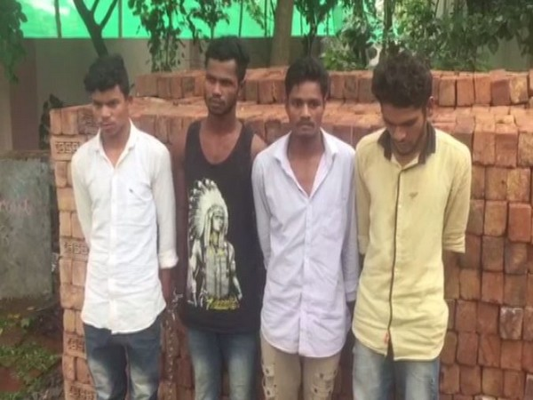 Police arrested four men for allegedly gang-raping a 30-year-old woman in Ranga Reddy District, Telangana. (Photo/ANI)