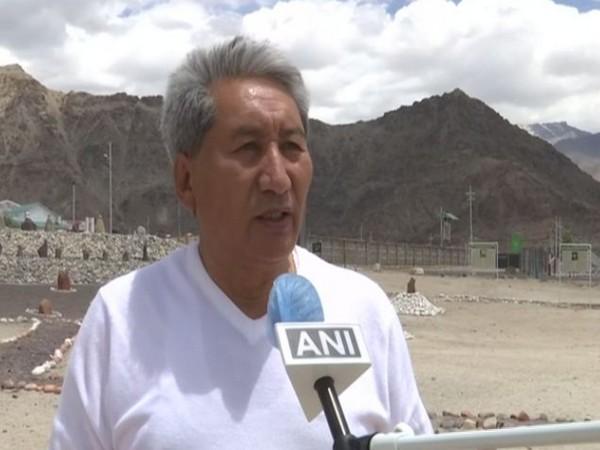 Phunsuk Ladakhi, a poet speaking to ANI (Photo/ANI)
