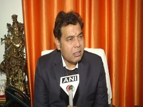 Uttar Pradesh Minister Srikant Sharma while speaking to ANI on Tuesday (Photo/ANI)
