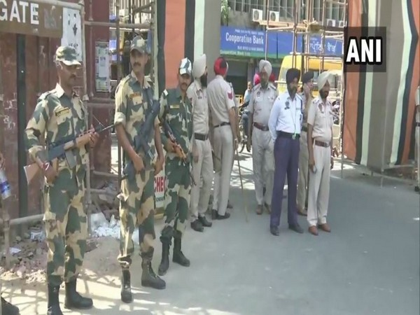 Security personnel maintaining strict vigil across Amritsar city