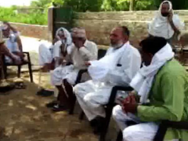 Family of Pankaj Sangwan in Sonipat on Tuesday. Photo/ANI