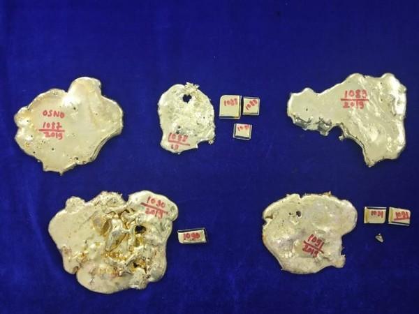 Customs at Chennai airport seized gold cut bits (Photo/ANI)