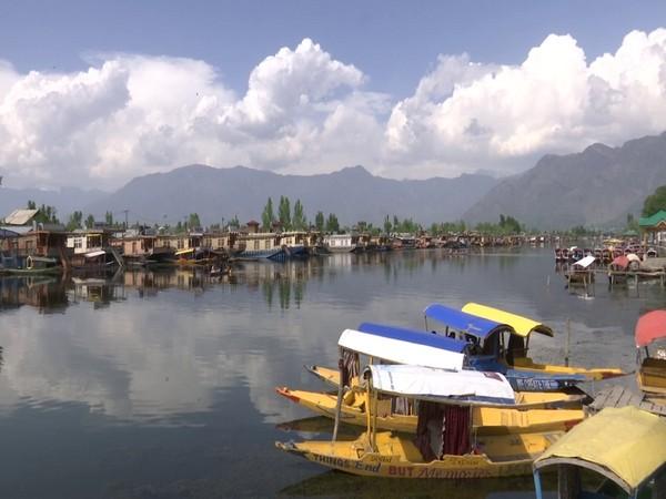 Several houseboats stationed in Srinagar's lake (Photo/ANI)