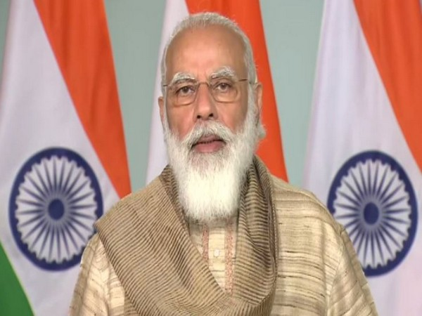 Prime Minister Narendra Modi addressed the people of West Bengal on the commencement of Durga Puja. (Photo/ANI)