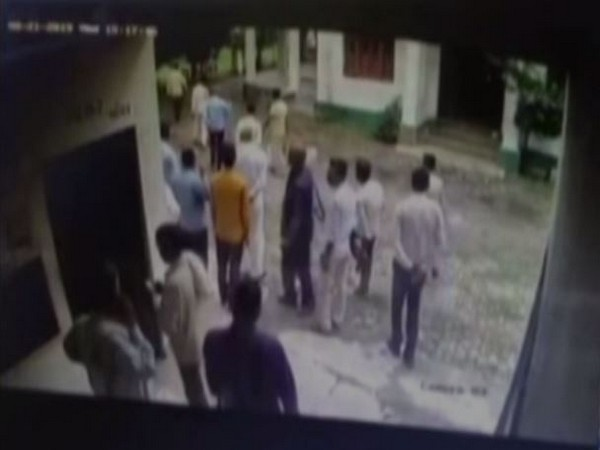 A grab of the CCTV footage of the sugar mill co-operative in Sitapur district. [Photo/ANI]