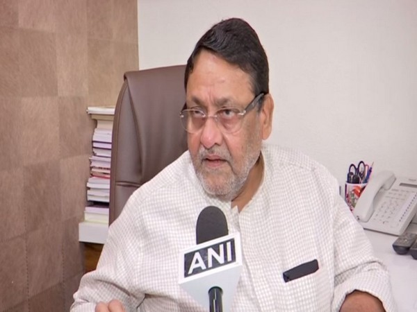 NCP leader Nawab Malik speaking to ANI on Monday. Photo/ANI
