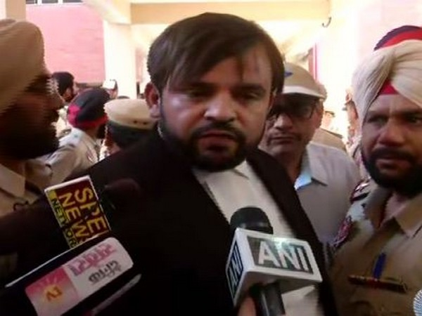 Victim's advocate Mubeen Farooqui speaking to media in Pathankot on Monday Photo/ANI