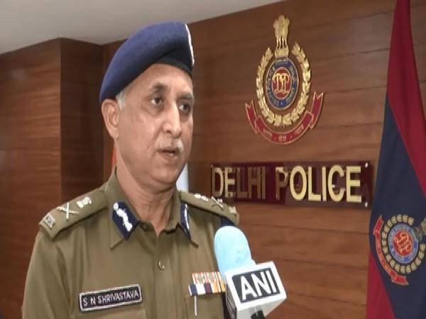 Delhi Police Commissioner, SN Shrivastava speaking to ANI on Wednesday. (Photo/ANI)