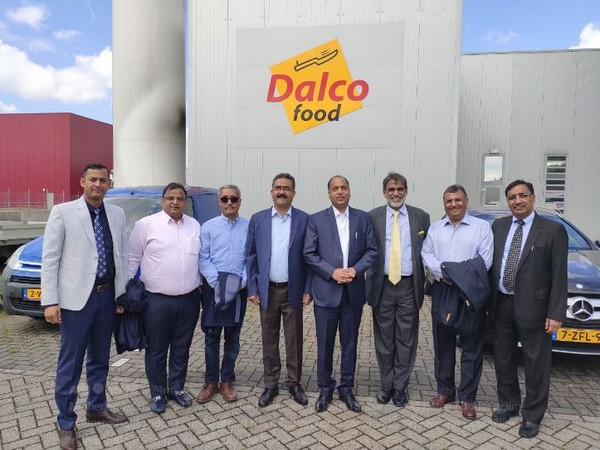Jai Ram Thakur at a food processing unit in Oosterhout