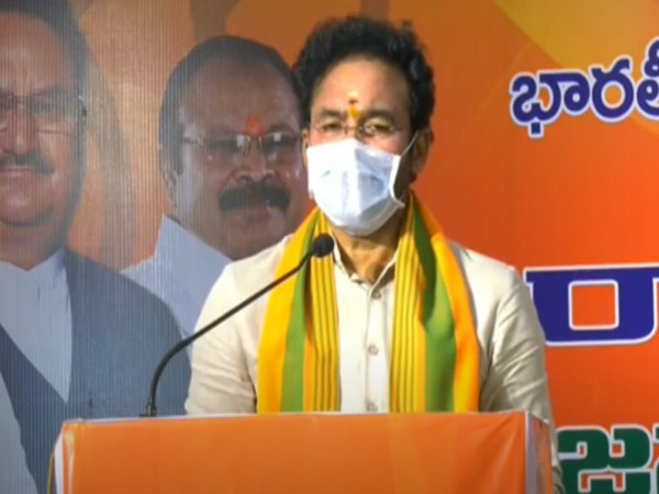 Union Minister G Kishan Reddy addressing virtual rally (Photo/BJP Andhra Pradesh/Youtube)