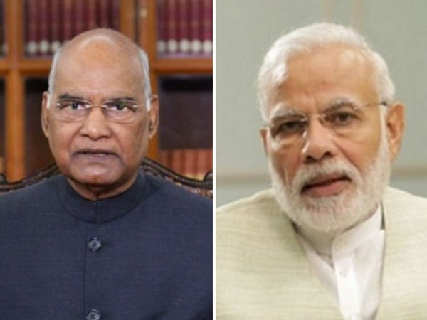 President Ram Nath Kovind (left) Prime Minister Narendra Modi (right) (File Photo/ANI)