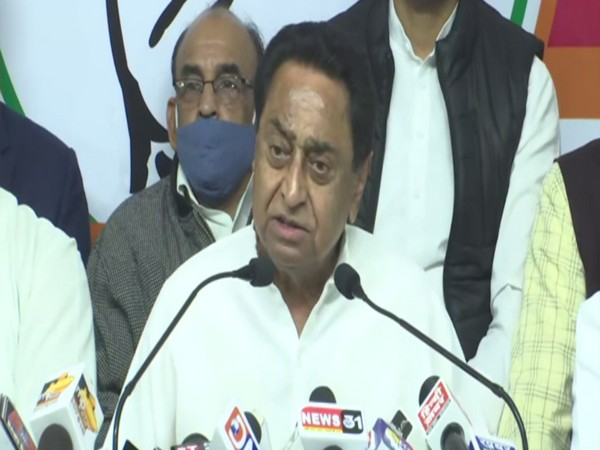 Former Madhya Pradesh Chief Minister Kamal Nath talks about farm protests at his press conference