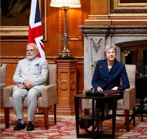 Prime Minister Narendra Modi and his British counterpart Theresa May (Photo: Reuters)
