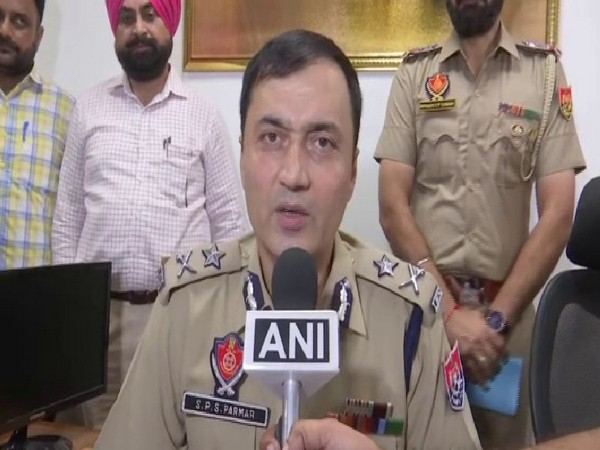 SPS Parmar, Inspector General of Police (IG), Border Range speaking to ANI on Friday. Photo/ANI