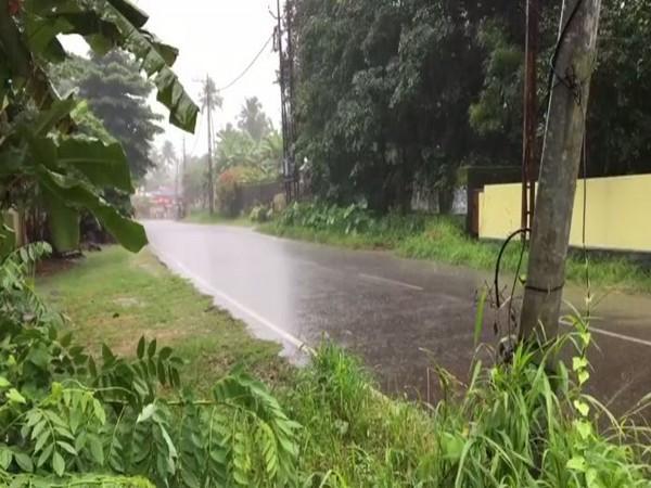 Visual of rain in Kottayam. (Photo/ANI)