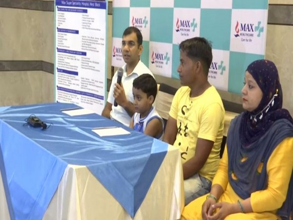 A team of doctors led by Dr Sharat Verma at Max Hospital, Saket, arranged around Rs 11 lakh for seven-year-old, Ali's liver transplant surgery (Photo/ANI)
