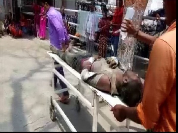 One of the criminals who was beaten by the mob on Friday. Photo/ANI