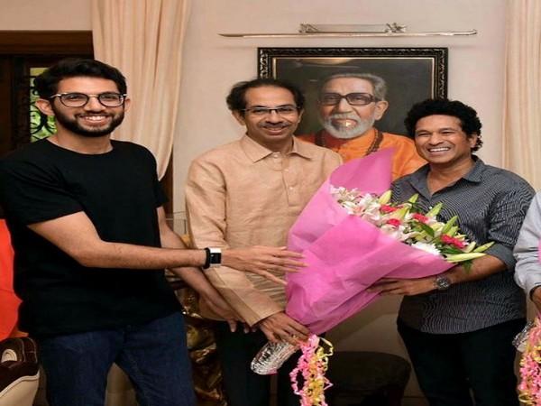 Shiv Sena's Aaditya Thackeray (Left) and Sachin Tendulkar (Right)