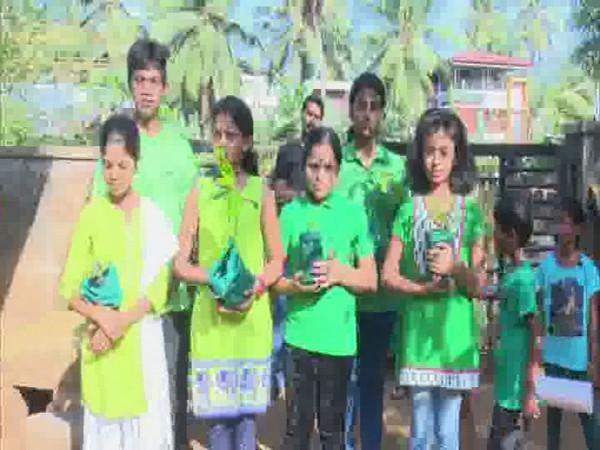 Green Warriors planting saplings