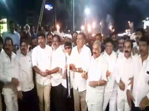 A visual from YSRCP rally in Visakhapatnam on Friday. Photo/ANI