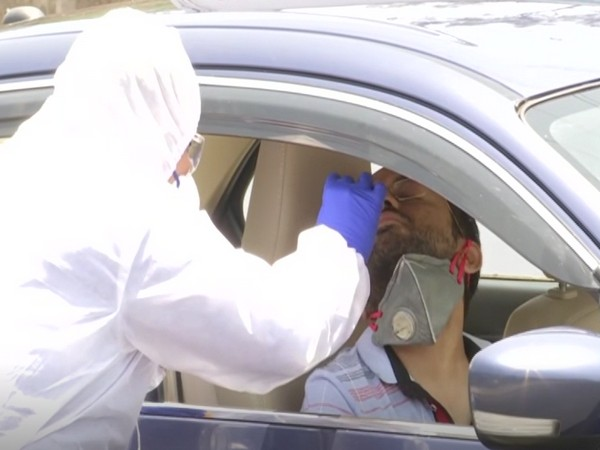 Visual from the COVID-19 Drive-thru Collection Point Test Centre (Photo/ANI)