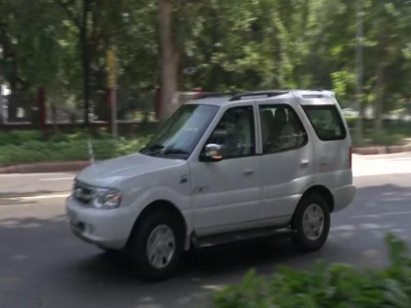 Union Home Minister Amit Shah arrives at BJP national president J P Nadda's residence on Thursday. (Photo/ANI)