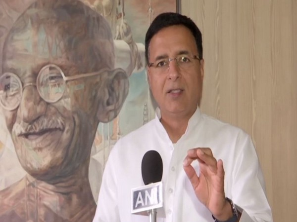 Congress leader Randeep Singh Surjewala while speaking to ANI on Saturday. Photo/ANI