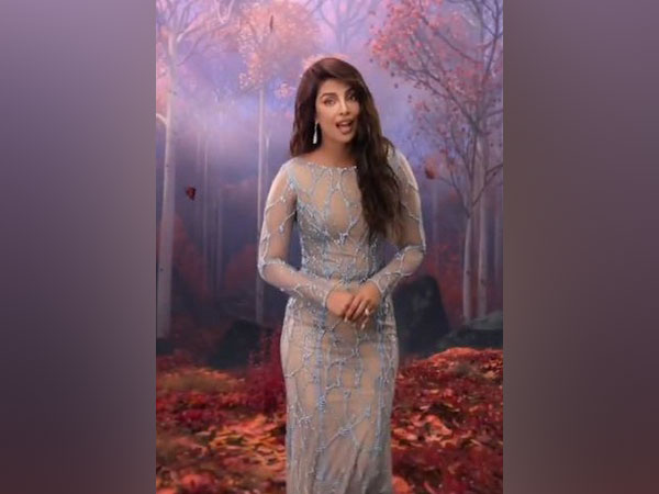 Priyanka Chopra in a still from the clip