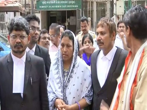 Payal Tadvi's mother and her advocate outside the Bombay Civil and Sessions Court in Mumbai on Monday. Photo/ANI