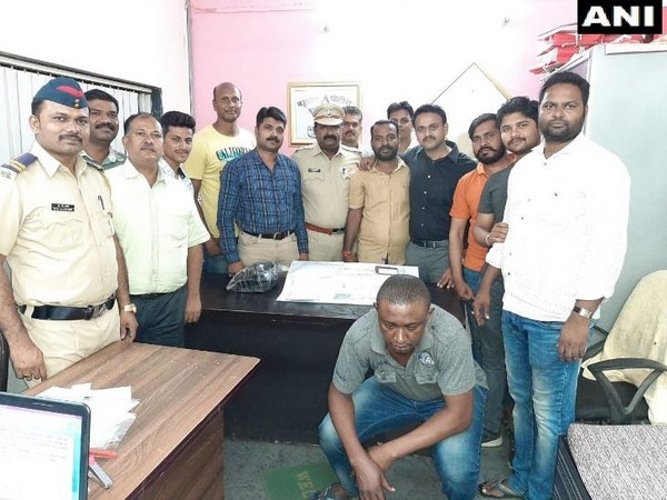 Palghar Anti-Terrorism Squad (ATS) and Tulinj Police arrested Nigerian national with cocaine. (Photo/ANI)