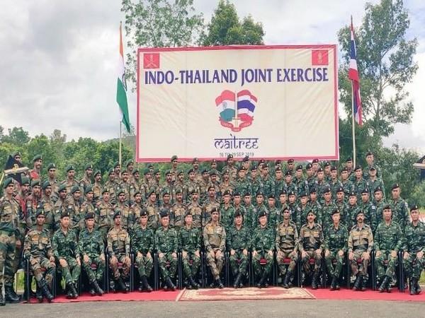 Indo-Thailand Joint Military Exercise MAITREE-2019  commenced on Monday in Umroi, Meghalaya. (Photo/ANI)