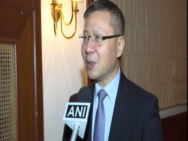 Director of China Institute at Fuan University Prof Zhang Weiwei speaking to ANI in New Delhi on Friday. Photo/ANI