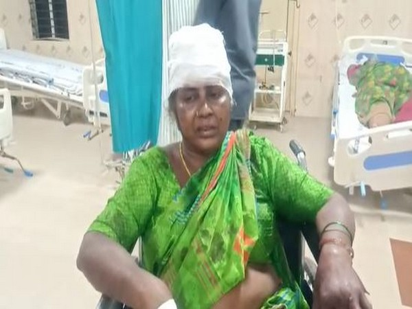 Injured victim of the Nellore mishap