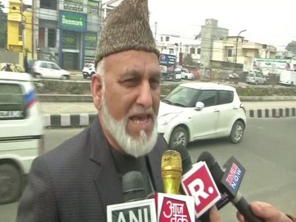 Congress leader from Jammu and Kashmir, GM Saroori while speaking to the reporters in Jammu on Tuesday (Photo/ANI)
